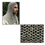 Chain Mail Coif Round Ring Dome Riveted Code 8 29-AB2556