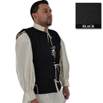 Medieval Waistcoat, 15th Century, Black Size Large 29-GB0218