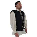 Medieval Waistcoat 15th Century, in Blue Wool, size XL 29-GB0229