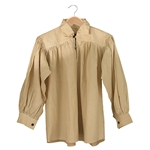 Renaissance Cotton Shirt with Collar Natural XXL