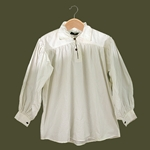 Renaissance Cotton Shirt with Collar White Medium GB3028