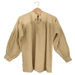 Renaissance Cotton Shirt Collarless Natural Medium 29-GB3037