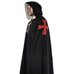 Knights Templar Cloak Black Wool Crusade