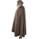 Medieval Cloak in Brown Wool Winter Cape