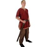 Viking Shirt, Burgundy, Medium Tunic