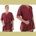 Viking Shirt, Burgundy, XXL Tunic