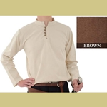 Heavy Cotton Shirt, Brown, Extra Extra Large