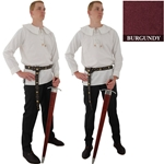 Renaissance Cotton Shirt Round Collar Burgandy Med 29-GB3638
