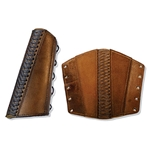 Leather Rogue Arm Bracer in Brown Large