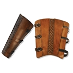 Rogue Leather Greaves in Brown, Medium