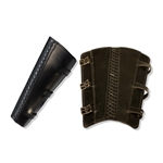 Rogue Leather Greaves in Black, Medium