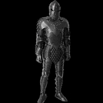 Black Knight Full Leather Armor Suit