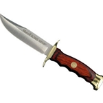 Muela Bowie Knife Utility, Wood Handle, Brass Guard 31-KMBW10
