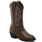 Girls Cowgirl Boots - Brown