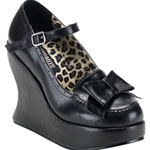 Bravo Mary Jane Platform Wedge Shoes with Bow 34-3008