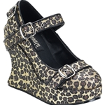 Bravo Wild Bondage Strap Mary Jane Platform Wedge Shoes 34-3013