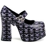 Charade Skull Mary Jane Platform Shoes 34-3018