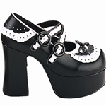 Charade Scalloped Mary Jane Platform Shoes 34-3019