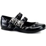Daisy Skull Double Buckle Mary Jane Flats 34-3050