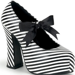 Demon Striped Mary Jane Platform Pumps 34-3067