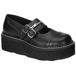 Emily Double Buckle Zipper Mary Jane Shoes 34-3077