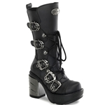 Sinister Buckle Calf Boots 34-3121