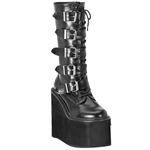 Swing Buckle Wedge Platform Boots 34-3143