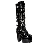 Torment Buckle Knee High Boots 34-3152
