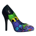 Psychobilly Zombie Print Pumps 34-3160