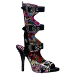 Zombie Psychobilly Print Buckle Sandals 34-3167