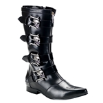 Brogue Men's Skull Buckle Calf Boots