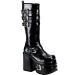Chopper Men's Buckle Platform Knee Boots 34-3183