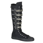 Deviant Pyramid Studded Extra High Top Sneaker Boots 34-3219