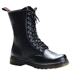 Disorder Side Zip Combat Boots 34-3221