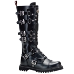 Gravel 6 Buckle Leather Knee Boots 34-3238