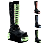 Techno Cyber UV Panel Platform Calf Boots