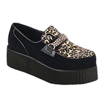 V-Creeper Chain Leopard Print Platform Shoes