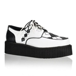 V-Creeper Argyle Platform Shoes 34-3287