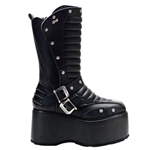 Wicked Buckle Platform Calf Boots 34-3290