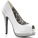 Bella Bridal Rhinestone Platform Pumps