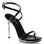 Wrap Around Ankle Strap Sandal with Accent