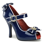 Open Toe Mary Jane W/ Anchor Bow