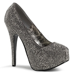 Teeze Pewter Rhinestone Pumps