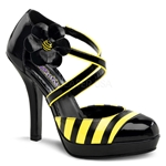 Bumblebee Criss Cross Pumps