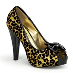 Betty's Cheetah Peep Toe Pumps