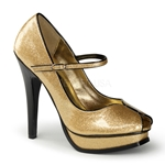 Pleasure Mary Jane Glitter Pumps 34-4160