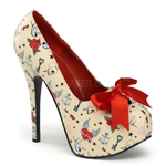 Teeze Tattoo Pumps 34-4170