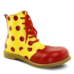 Men's Red Polka Dot Clown Boots