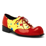 Men's Red and Yellow Clown Shoes