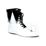 Men's Black and White Court Jester Shoes